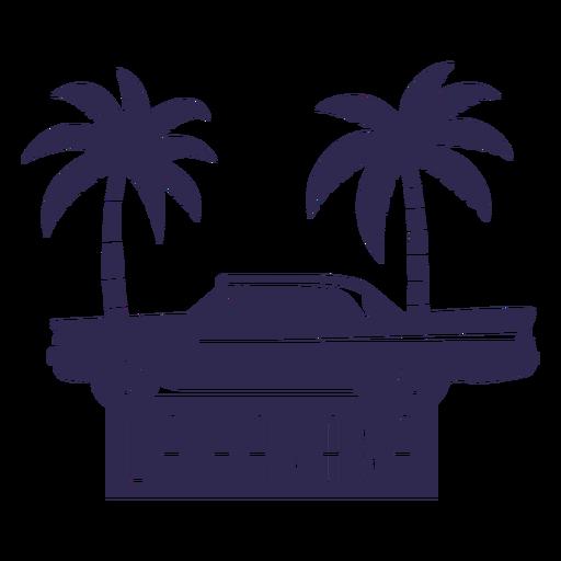 Ilustración de coche tradicional de la habana