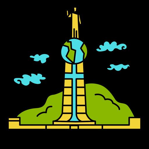 Landmark el salvador illustration