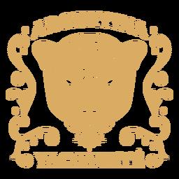 Insignia del país leopardo argentina