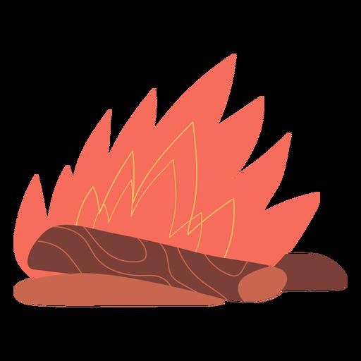 Lighten bonfire illustration