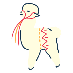 Llama animal illustration llama