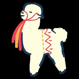 Llama ilustración animal llama