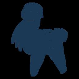 Llama silueta animal llama