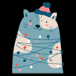 Ilustração adorável de Natal de gato