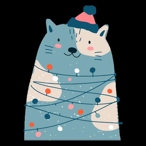 Ilustração adorável de Natal de gato Transparent PNG