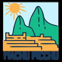 Diseño de paisaje de machu pichu
