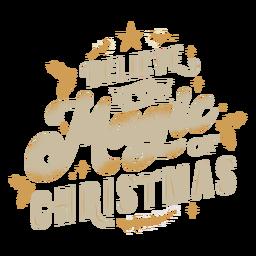 Letras mágicas de natal