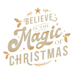 Letras mágicas de navidad