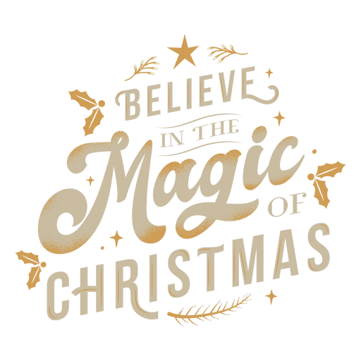 Magic christmas lettering Transparent PNG