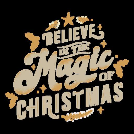 Magic christmas lettering