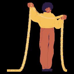 Luces de navidad de carácter hombre
