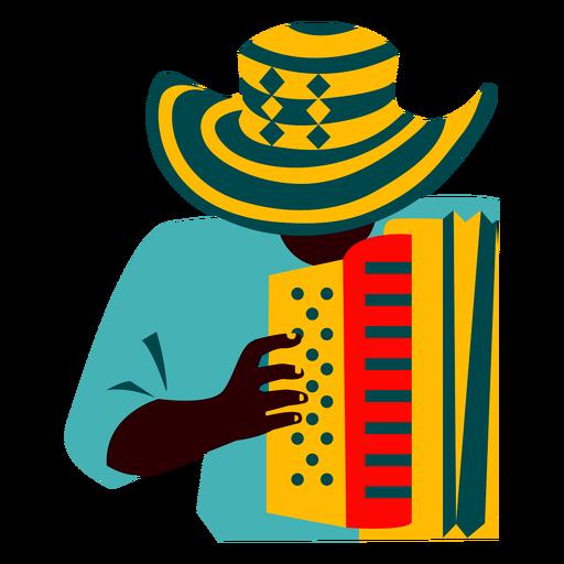 Man playing accordion illustration Transparent PNG