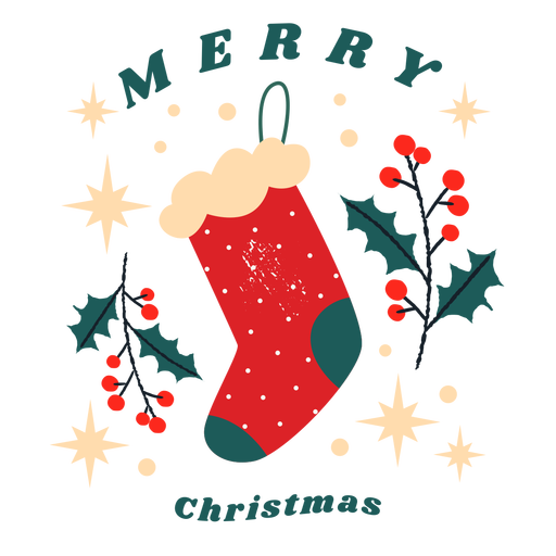 Merry christmas greeting badge Transparent PNG