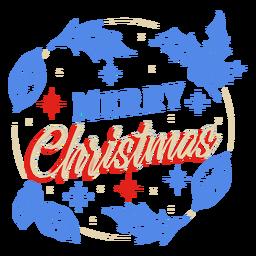 Diseño de insignia de muérdago de feliz navidad