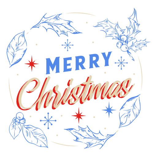 Feliz Natal para design de crachá de visco Transparent PNG