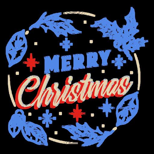 Merry christmas mistletoe badge design
