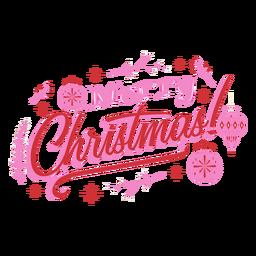 Emblema de design de enfeite de feliz natal