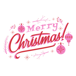 Merry christmas ornament design badge