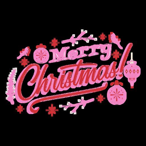 Merry christmas ornament design badge Transparent PNG