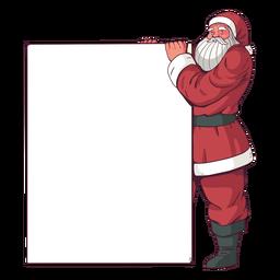 Cartel de feliz navidad santa claus