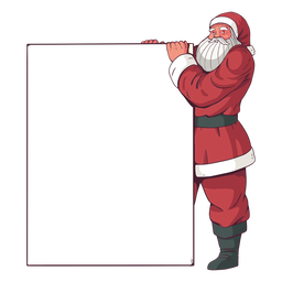 Frohe Weihnachten Plakat Santa Claus
