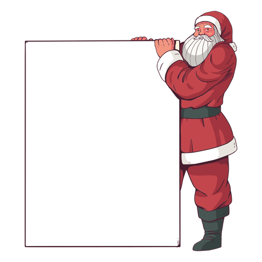 Cartaz de feliz natal papai noel Transparent PNG
