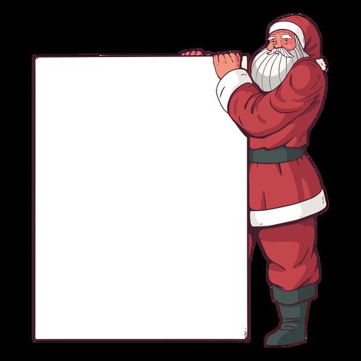 Cartel de feliz navidad santa claus Transparent PNG
