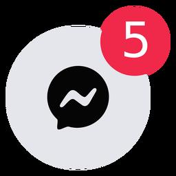 Icono de alerta de mensaje plano