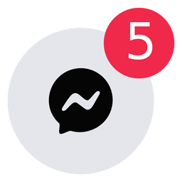 Message alert icon flat