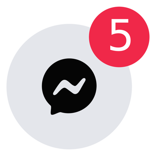 Message alert icon flat