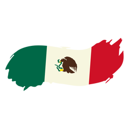 Mexican brushy design flag