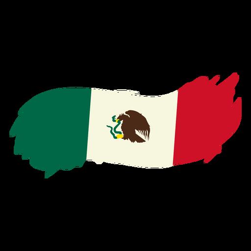 Bandera mexicana de diseño brushy Transparent PNG
