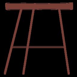 Minimalist table illustration