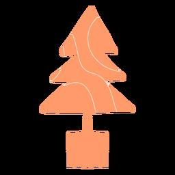 Modern christmas tree illustration