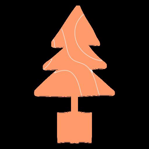 Ilustración moderna del árbol de navidad