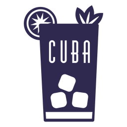 Mojito drinking cuba design