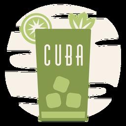 Mojito drinking cuba flat design