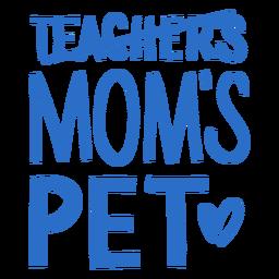 Letras de estimação da mamãe
