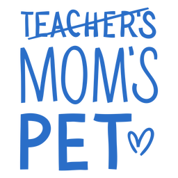Mom's pet lettering