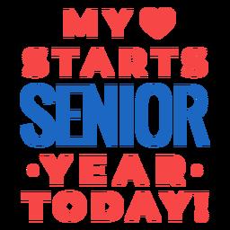 My love starts senior lettering