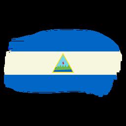 Desenho da bandeira pincelada da Nicarágua
