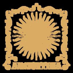 Insignia de sol ornamental argentina