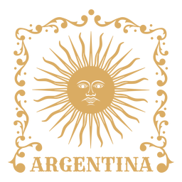 Ornamental sun badge argentina
