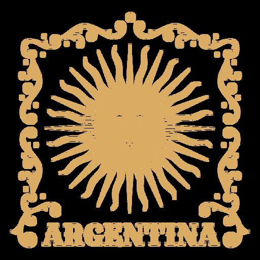 Ornamental sun badge argentina