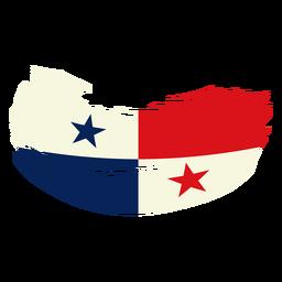 Desenho da bandeira pincelada do Panamá