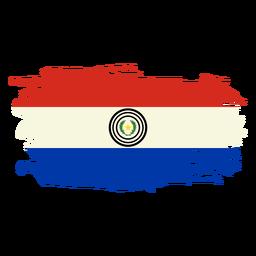 Paraguay brushy flag design