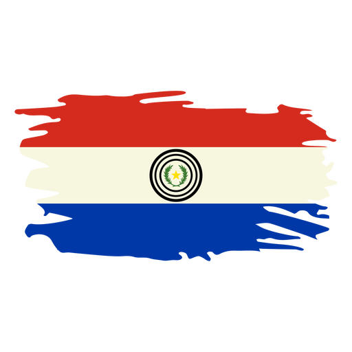 Paraguay brushy flag design Transparent PNG