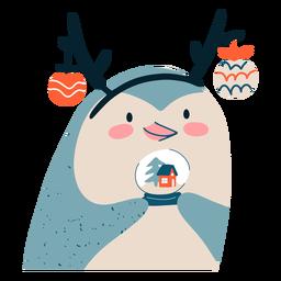 Ilustração do projeto de natal do pinguim
