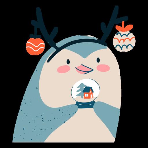 Ilustración de diseño de navidad de pingüino