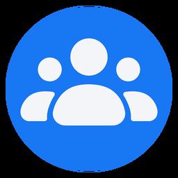 Projeto do ícone plano de pessoas